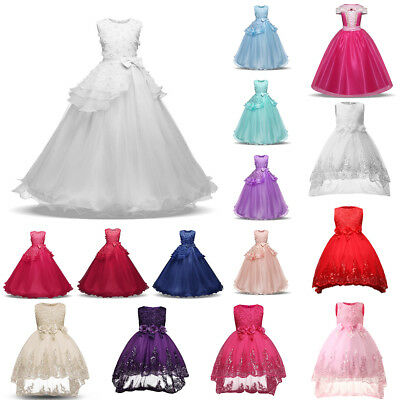 Girl Pageant Party Wedding Bridesmaid Flower Princess Formal Ball Gown Dress Lot