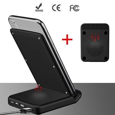 Anti-slip Wireless Fast Charge Dock Mute Cooling Wireless Charger For iPhone PC