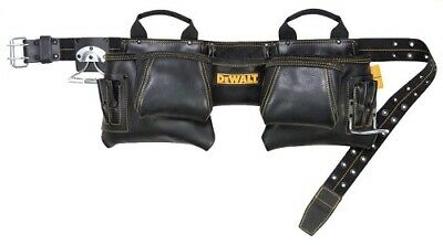 Dewalt 12 Pocket Carpenter's Top Grain Leather Tool Belt Apron DG5472