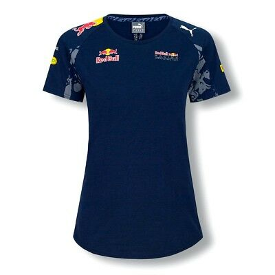Puma Red Bull Women's Ladies T-Shirt Official F1 Racing Team 2016 Blue RRP £55