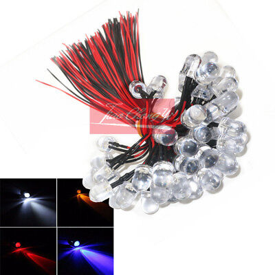 40cm wire 5V/12V Optionally F10mm Red blue green white color Pre-Wired led lamp