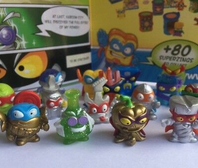 SuperZings Series 2 Rivals of Kaboom Spares Rare Gold Silver Crystal