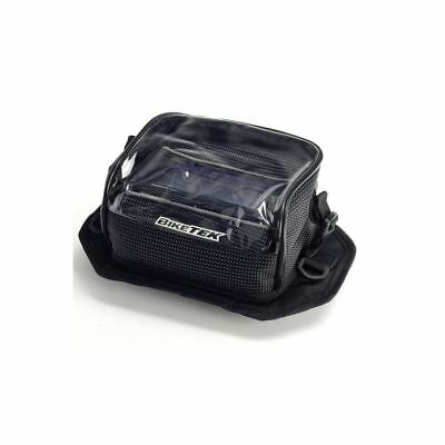 BikeTek Waterproof Motorcycle Motorbike GPS Sat Nav Holder Bag Mount Case Clear