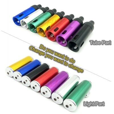 Click-n-Vape Smoke Pipe W/ Built-in Torch Lighter Click-n-Hit/Puf & Sneak-a-Toke