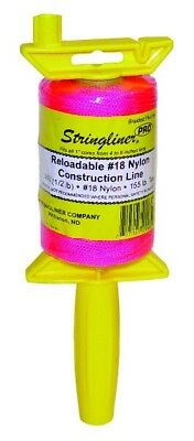 500 foot Hi Viz Pink Builders Brick Laying Measuring Line String 150m