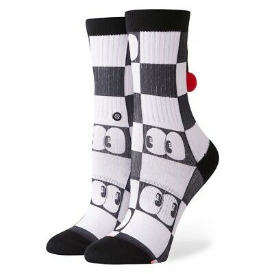 Stance NEW Men's Don't Make Me Smile Girls Socks White BNWT