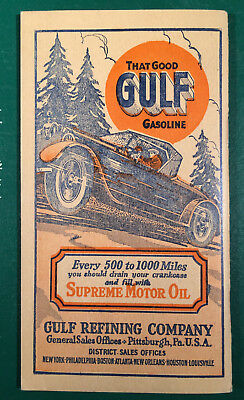 1927 Pennsylvania PA Primer of the Vehicle Code Gulf Advertising