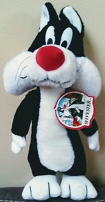 """Sylvester Cat Plush Stuffed Animal 1992 Vintage 24K Special Effects 16"""" With Tag"""