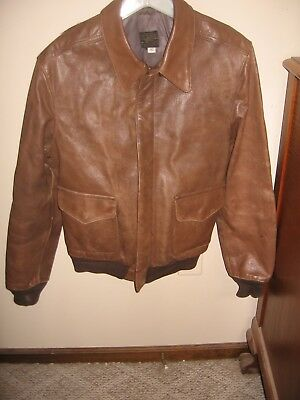 3a9ddb6576f WOMEN'S US ARMY AIR FORCE Type A-2 Brown Flyers Leather Flight Bomber Jacket