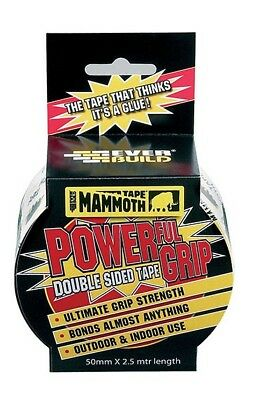 Everbuild Mammoth Power Grip Double Sided Tape 50mm x 2.5 Metre