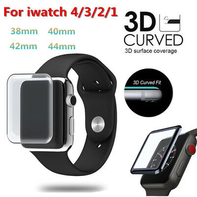 Apple Watch iWatch Series 4 3 2 1 Tempered Glass 3D Full Cover Screen Protector