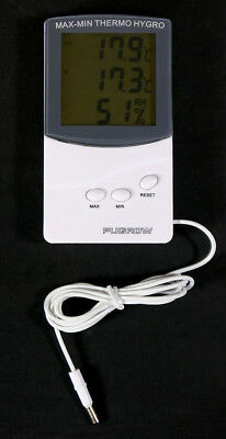 PuGrow digitales Min/Max in/out Hygro-/Thermometer Klimakontrolle digital