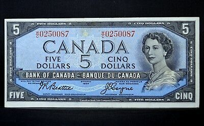 1954 $5 Bank Of Canada Note ✪ Vf Very Fine ✪ P-78 L@@k Now ◢Trusted◣
