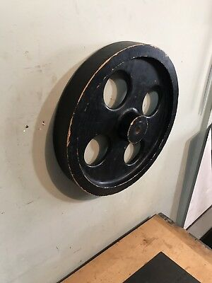 """Old Industrial Wood Wheel Foundry Pattern 17"""" Mold"""