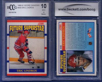 1990-91 Score Canadian #440 ERIC LINDROS rc rookie BGS BCCG 10 B
