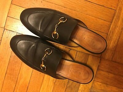 94dfdb68892 GUCCI PRINCETOWN LOAFER Mule Black Leather Size 7.5 us---37.5 eu ...