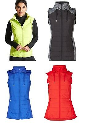 NEW LADIES M/&S GREEN SPORTS GILET QUILTED BODYWARMER ACTIVEWEAR SIZES 12-22