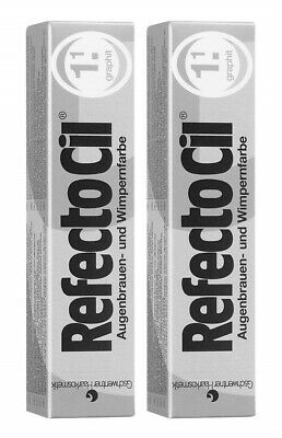 2 er Pack RefectoCil 1.1 Graphit 15ml Wimpernfarbe
