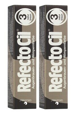 2 er Pack RefectoCil 3 Braun 15ml Wimpernfarbe