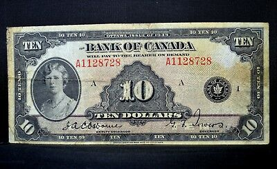 1935 $10 Bank Of Canada Note ✪ Vf Very Fine ✪ P-44 Princess Mary L@@k ◢Trusted◣