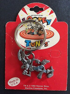 New Looney Tunes Wile E. Coyote Warner Bros 1992 Pewter Keychain
