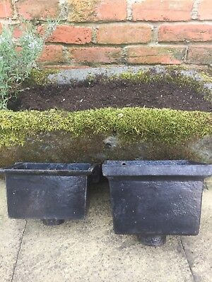 Vintage Cast Iron Hopper Planter x 2