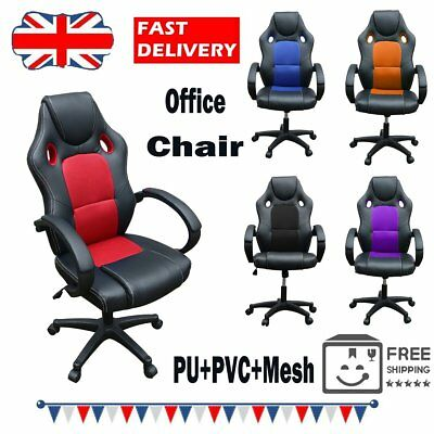 Office Gaming Chair Racing Executive Computer Desk Seat Swivel Sports Adjustable