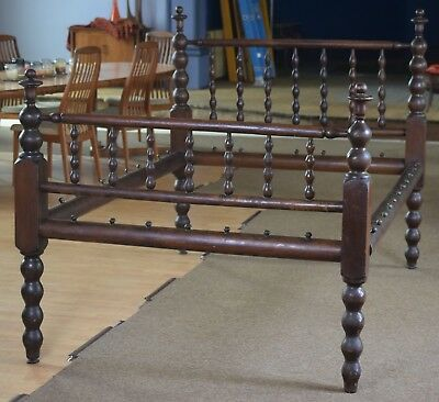Antique Solid Walnut Four Poster Rope Bed