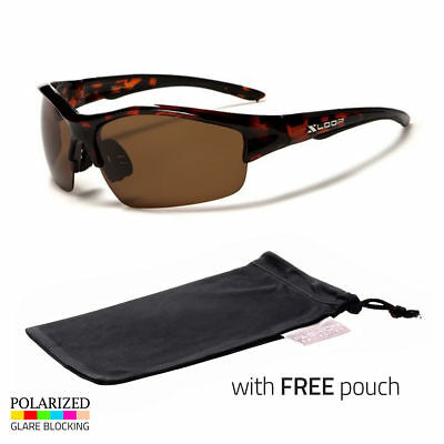 8a74fcf3be7 Polarized Men Wrap Around Fashion Sunglasses Fishing Brown Sport Glasses  Pouch s