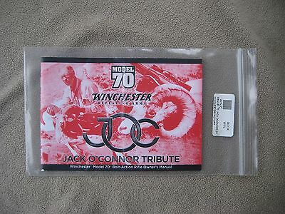 Winchester Model 70 instruction manual Jack O'Connor tribute