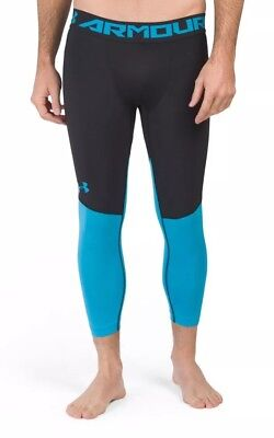7633482e3bee5 $40 Under Armour SC30 Men's Sz MEDIUM Basketball Leggings Black/Blue  1298381 NWT