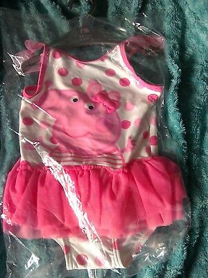 5eae031505 BNWT Girls Pink Peppa Pig Tutu Swimsuit 2-3 Years by Mothercare