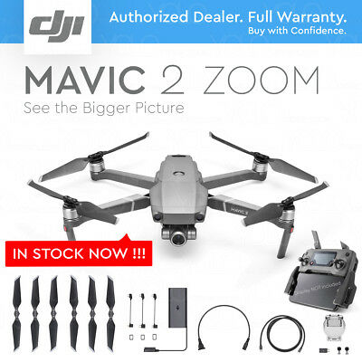 "DJI MAVIC 2 ZOOM with 2x Optical ZOOM + Dolly Zoom. 12 MP 1/2.3"" CMOS Sensor."