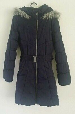 Girls Blue Winter Coat From Debenhams Fleece Lined 9-10Years Excellent Condition