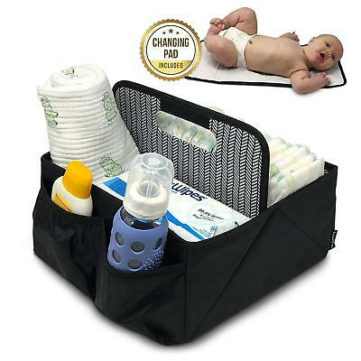 Baby Diaper Caddy and Car Organizer for Accessories Large Portable Boy or Girl
