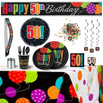 50th Birthday Party Supplies Decorations Bundle