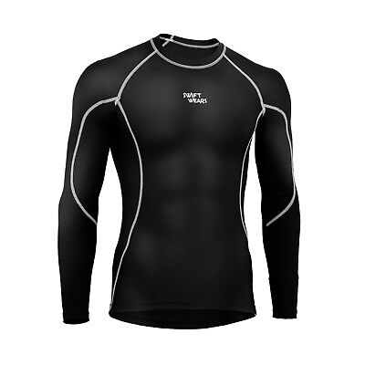 Mens Compression Armour Base Layer Top Full Sleeve Thermal Gym Sports Shirt