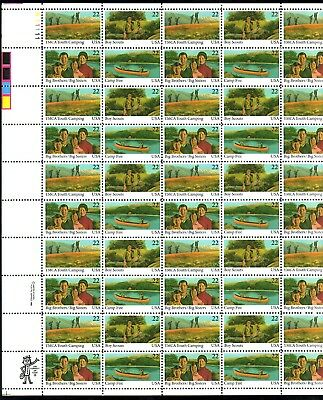 Below Face Value! #2160-63 International Youth Year Mint Sheet. F-Vf Nh.