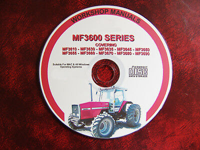Massey Ferguson Mf3655, 3660,3670, 3680, 3690 Mf Tractor Workshop Repair Manual