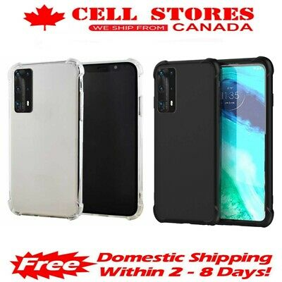 Ultra Thin Soft TPU SiliconeJelly Bumper Back Cover Case for Huawei P20