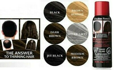 Jerome Russell Spray On Hair Color Thickener BLACK, BLONDE  --  FREE SHIPPING!