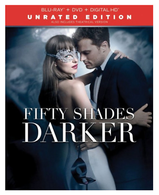 Fifty Shades Darker Unrated Edition (Blu-ray, DVD, Digital HD) Brand New