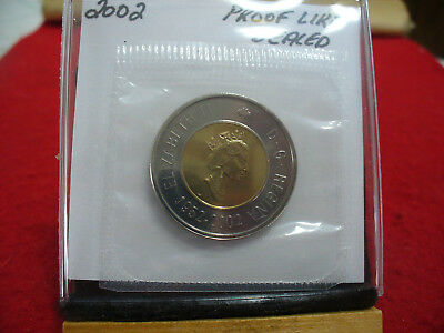 2002  Canada 2$ Two  Dollar  Coin  Toonie  See Photos  02  Proof Like  Sealed