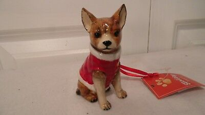 Chihuahua Dog Chrismtas Ornament, In Red Sweater