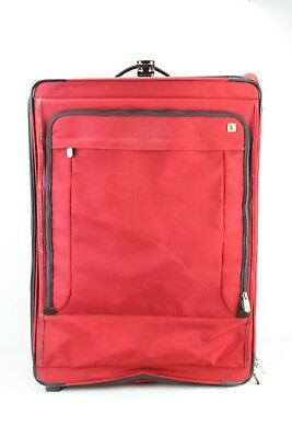 """Victorinox Swiss Army Red 31"""" Expandable Upright Suitcase Luggage Bag Rolling"""
