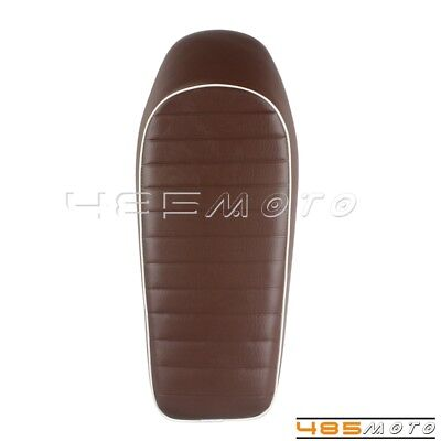 Hump Style Seat Cushion Brown Seat Pad Vintage Saddle Cover For Cafe Racer New