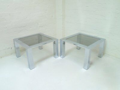 Chrome Coffee Or Side Table by Belgo Chrome 1970s vintage retro