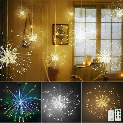 198LED Firework Copper Wire String Light Fairy Lamp Xmas Wedding Party Decor DIY