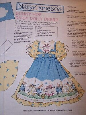 purse Vintage cut and sew fabric panel Doll accessories like collar hat Daisy Kingdom Bunny Hop Accessory Panel Easy first sewing