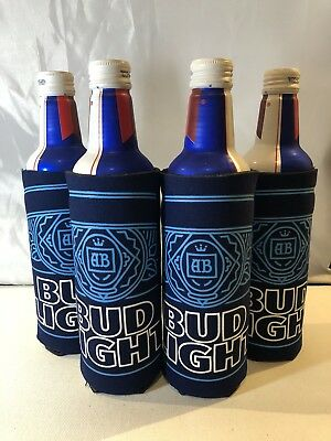 4 Aluminum Slim Bottle or Can Bud light  Coozie Koozie Set